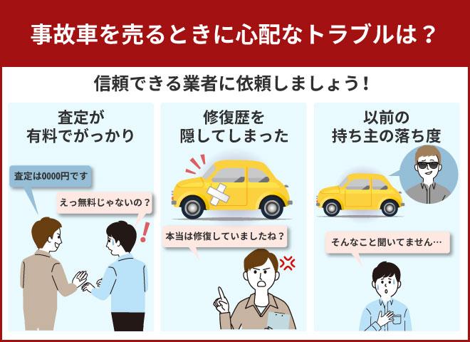 事故車売却時のトラブルを解説