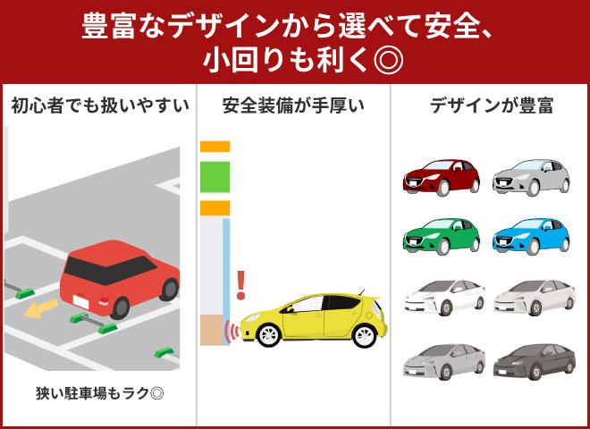 コンパクトカーのメリットは安全性や小回りのしやすさなど