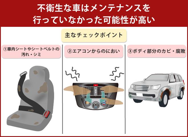 10万キロでも清潔感のある車を選ぶ